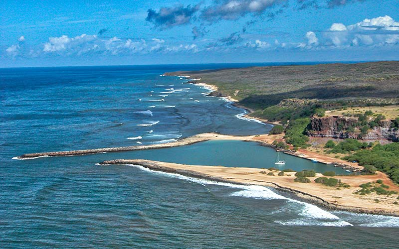 Hale O Lono Harbor and beaches Molokai Hawaii