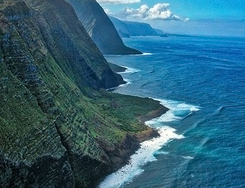 Molokai Photo Tours – 03 – Aerials North Shore Sea Cliffs