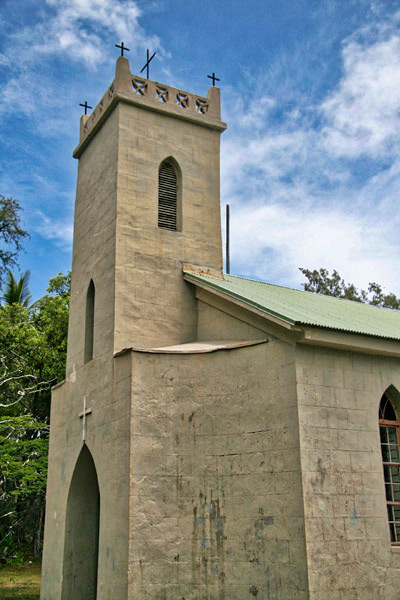 Saint Philomena Church Kalaupapa Hawaii